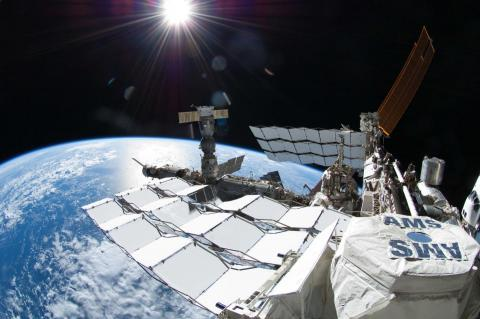 AMS aboard the International Space Station